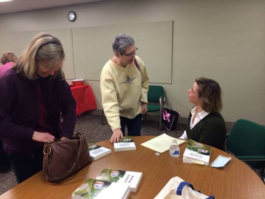 Book signing for Homing Instincts at the Tolland Public Library in Tolland, Connecticut.